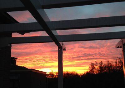 Vogelhorst zonsondergang