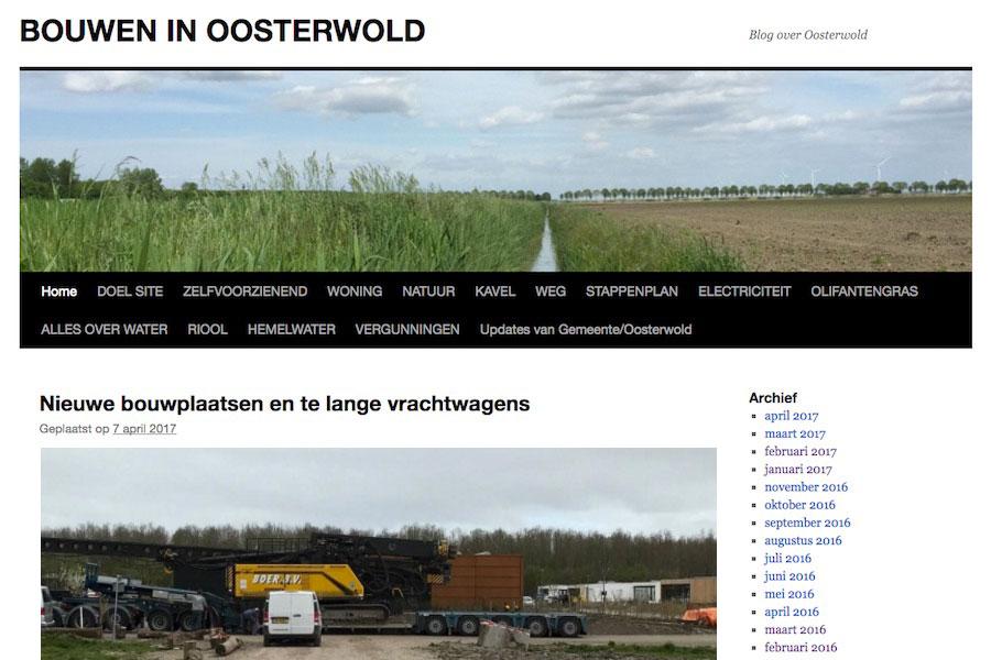 Bouwen in Oosterwold Blog