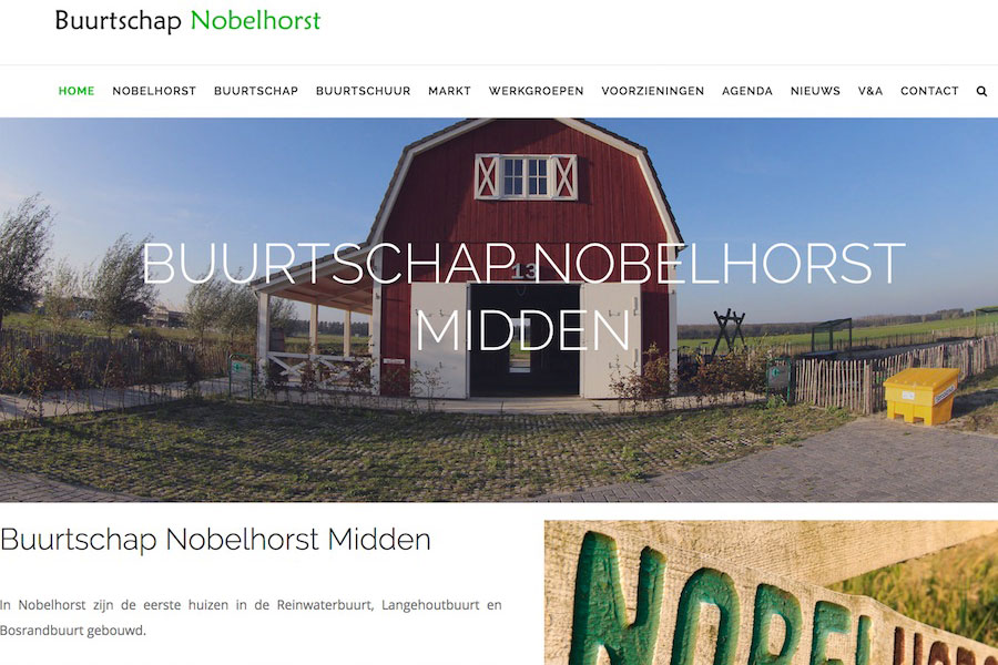 Buurtschap Nobelhorst bewoners website