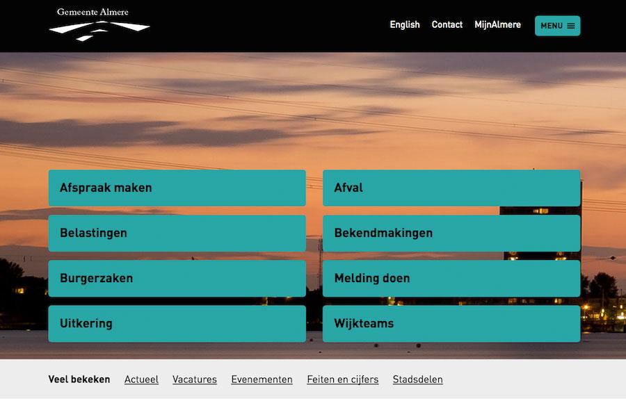 Website van de gemeente Almere