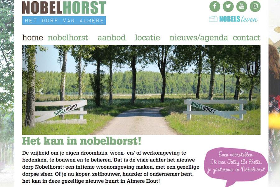 Nobelhorst, de wijk aan de Oostkant van Almere-Hout
