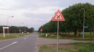 Borden kruising Kievitsweg Goudvinklaan